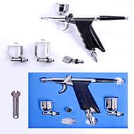 SP - Tatuajes con Aerógrafo - Metálico - Pistolas de Aerógrafo - Adulto - Plata - Latón - 1 set - 15*11*11 - 15cm - 7cc & 10cc - 15-50psi