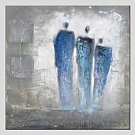 Handgeschilderde MensenModern / Europese Stijl Eén paneel Canvas Hang-geschilderd olieverfschilderij For Huisdecoratie