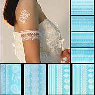 Unbranded - Tatoveringsklistermærker - Non Toxic / Mønster / Stor Størrelse / Nederste del af ryggen / Waterproof / Blonde -Dame / Herre