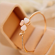 Small Fragrant Peach Clover Bracelet Jewelry Opal Full Diamond Bracelet