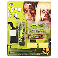 Halloween Zipper Gum On Face Package Includes Three Color Face Paint Fake Blood