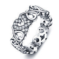 925 Sterling Silver Women Jewelry High Quality Classic Soulmate Cubic Zirconia Setting Ring Perfect Gift For Girls