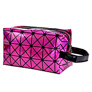 Women PU / Nylon Outdoor Cosmetic Bag - Purple / Green / Red / Silver
