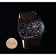 Cadeau personnalisé Suivre , Thermomètre Quartz Suivre With 304 Style Moderne Boîtier Vrai cuir Bande Montre MultifonctionnelleRésistance