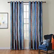twopages® Diana-Sammlung zeitgenössischer dicken Strick Samt Streifenvorhang drapieren eine Platte