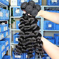3pcs Lot 5A Unprocessed Peruvian Virgin Hair Loose Wave  Human Hair Extensions Natural Black Hair Weaves