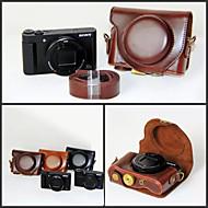 dengpin pu læder kamerataske taske dække med skulderrem til Sony DSC-hx90v hx90 wx500 (assorterede farver)