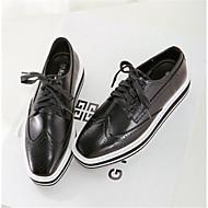 Women's Shoes  Platform Square Toe Oxfords Casual Black / Silver