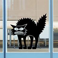 pegatinas de pared de estilo calcomanías de pared pegatinas de halloween thriller de pvc gato