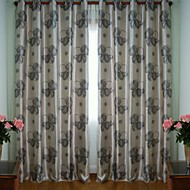 Two Panels European Fashion Style Peony Window Shade Curtains Drapes
