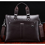 Men Cowhide Formal / Office & Career Tote Brown / Black