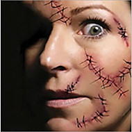 5pcs Hot Halloween Makeup Decoration Costume Zombie Scar Temporary Tattoos