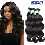 "3 Pcs /Lot 8""-30""5A Brazilian Virgin Body Wave Hair Extensions 100% Unprocessed Virgin Human Hair Weaves"