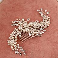 Women's/Flower Girl's Rhinestone/Imitation Pearl Headpiece Handmake - Wedding/Special Occasion Hair Combs 1 Piece