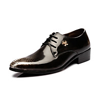 Men's Shoes Wedding/Office & Career/Party & Evening Leather Oxfords Black/Brown/White/Burgundy