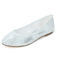 Women's Wedding Shoes Ballerina / Round Toe Flats Wedding  / Party & Evening Black / Pink / Ivory / White