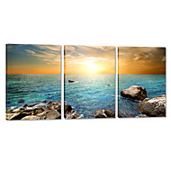 VISUAL STAR®Sea Sunset Stretched Canvas Printing Beach Wall Hanging Art Ready to Hang