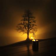 δημιουργική καλλιτεχνική πολλαπλών σχημάτων που μοιάζουν με κερί οδήγησε φως σκιά λάμπα προβολής φως τη νύχτα χριστουγεννιάτικο δώρο
