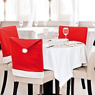 6 pcs / lot Santa cadeira chapéu de Papai cobre decoração cozinha mesa de jantar partido casa decoração de natal