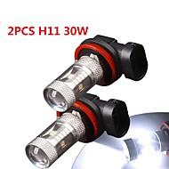 2×白のハイパワー30ワットのH11は、電球のDRLの霧/運転ライトランプ12V-24Vを導きました