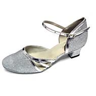 Na zakázku - Dámské - Taneční boty - Moderní - Koženka / Třpitivé flitry - Podpatek na míru - Stříbrná