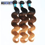 3 PC / Los 3t brasilianische reine Haarkörperwelle Haarverlängerungen aus 100% unverarbeiteten reinen 1b / 4/27 # ombre Menschenhaar