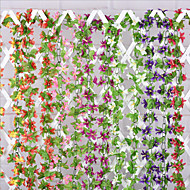 Orchids Vine in Silk Cloth for Home Decoration Artificial Floor Flowers(5pcs)