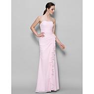 Lanting Ankle-length Chiffon Bridesmaid Dress - Blushing Pink Sheath/Column Sweetheart