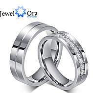 Prstýnky Módní Párty Šperky Zirkon / Ocel Dámské Široké prsteny 1ks,Jedna velikost Stříbrná