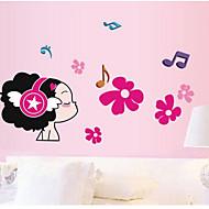 Botanical / Music / Fashion / People Wall Stickers Plane Wall Stickers , PVC 50cm*70cm