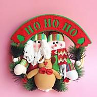 "30CM/12"" Christmas Rattan Hoop Christmas Decoration Hangings Christmas Wreath Santa Claus Snowman Reindeer"
