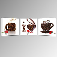 fritid / Landskap / Fotografisk / Mat og Drikke / Patriotisk / Moderne / Romantikk / Pop Art Lerret Print Tre Paneler Klar til å henge ,