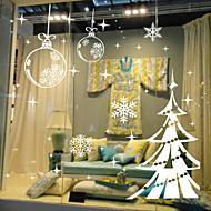 Window Stickers Window Decals Style Snowflake Christmas Tree Window Glass Decoration PVC Window stickers