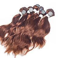 טווה שיער אדם שיער ברזיאלי גלי טבעי 12 חודשים שוזרת שיער