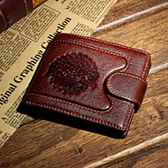 Masculino Carteira Porta Cartão Porta Moedas Couro de Gado Formal benzóico Compras Uso Profissional