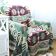 Green Cotton Check Thickening Line Decorative Carpet Sofa Towel Blanket