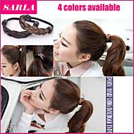 3pc / lot elastisches Haarseil Frauenstirnband Haar-Accessoires Band Pferdeschwanz Inhaber Perücke Seilhaar die geflochtene tonytail