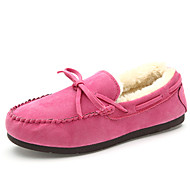 Women's Shoes Flat Heel Moccasin / Novelty / Round Toe Boat Shoes Office & Career / Dress / Casual Black / Yellow / Pink