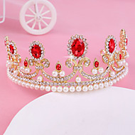 Bride's Golden Rhinestone Crystal Forehead Wedding Crown Headwear  1 PC