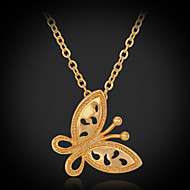 Instyle 18K Chunky Gold Plated Butterfly Pendant High Quality