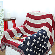 Cotton Old Glory Thickening Line Decorative Carpet Sofa Towel Blanket