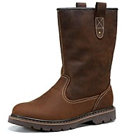 Men's Boots Spring Summer Fall Comfort Nappa Leather Outdoor Office & Career Dress Casual Light Brown Black