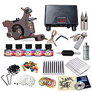Dragonhawk® Beginner Tattoo Machine Kit 1 s 5 Inks Needles Power Supply