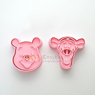 Cute Cartoon Animal 3D Winnie the Pooh Tigger Cookie Cutters and Stamps