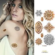 1 - Séries bijoux / Autres - Doré / Argenté - Motif - 6*10.5cm (2.36*4.13in) - en Papier - Tatouages Autocollants - Brand New -Bébé /