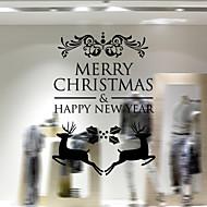 מדבקות קיר חלון מדבקות קישוטי חג המולד קישוט חג סנטה קלאוס פעמוני עצי חג המולד