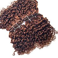 인간의 머리 직조 브라질리언 헤어 컬리 12 개월 4 개 머리 직조