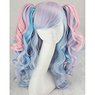 Europe And The United States COS Wig Anime Lolita Thickening Air Volume Powder Mix Blue Tiger Wig