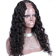"Unprocessed 10""-24"" Brazilian Virgin Hair Natural Color Loose Wave 130% Density U Part Wig Middle Part Upart Wig"