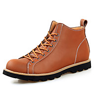 Men's Shoes Office & Career / Athletic / Casual Leather Boots Black / Brown / Khaki